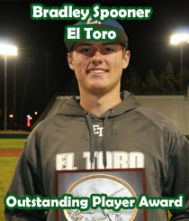 2016 Outstanding Player Award - Bradley Spooner - El Toro