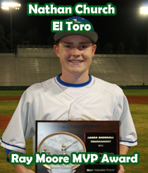 2016 Ray Moore MVP Award - Nathan Church - El Toro