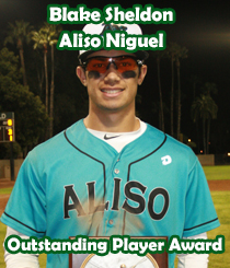 Outstanding Player Award - Blake Sheldon - Aliso Niguel